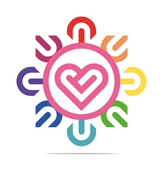 heart abstract design business vector image