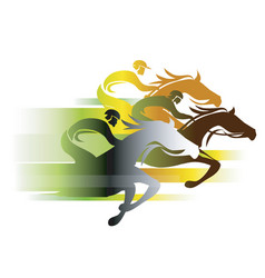 horse race in autumn colors vector image