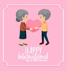 international day older persons banner vector image
