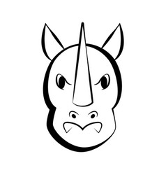 Isolated rhino outline icon vector