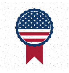 Isolated usa flag button of vote concept vector