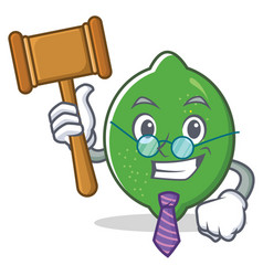 judge lime mascot cartoon style vector image