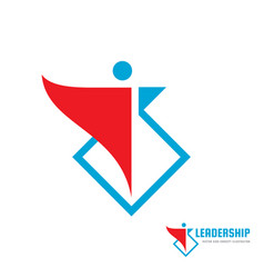 leadership - business logo template concept vector image