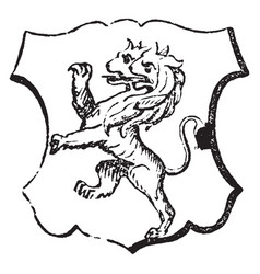 lion rampant double-headed is a common charge in vector image