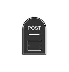 mail box icon post box icon isolated flat design vector image