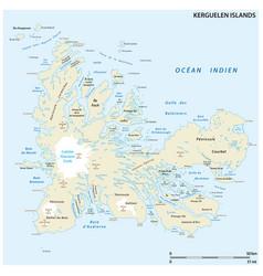 Map french archipelago kerguelen vector