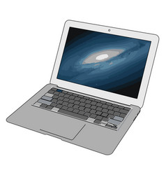 model a laptop on white background vector image