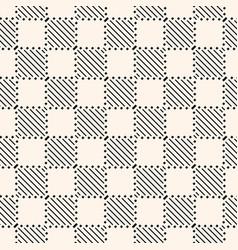 Modern abstract checkered seamless texture vector