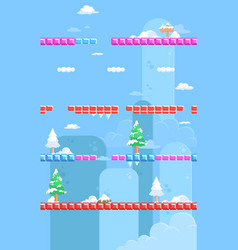 nature snow game background vector image