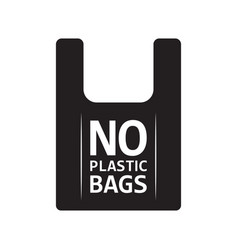 no plastic bag icon say no to plastic bag vector image