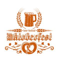 oktoberfest logotype design vector image