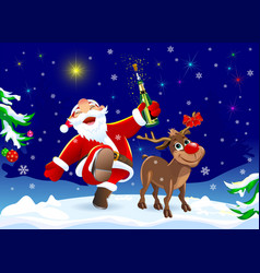 on the eve of christmas vector image