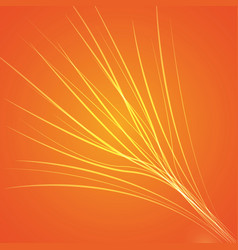 orange bright background vector image