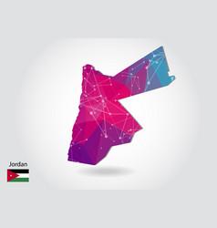 Polygonal jordan map low poly design map made of vector