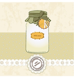Pure biological food jar vector
