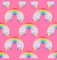 rainbow seamless pattern vector image