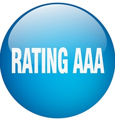 Rating aaa blue round gel isolated push button vector