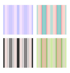 set of vertical stripes seamless print vector image