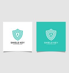 shield key logo designs vector image