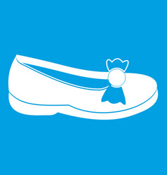 Shoe icon white vector