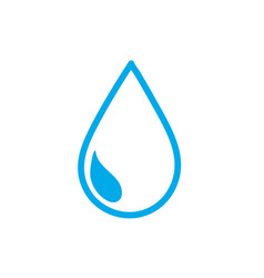 silhouette natural water drop to environment care vector image