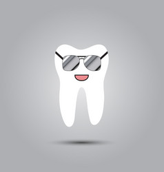 smiley in tooth vector image