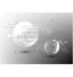 Technological global modern communication vector