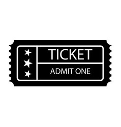 ticket icon isolated black on the white vector image