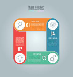 Timeline infographic design and marketing icons vector