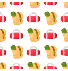 tourist backpack samless pattern vector image