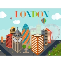 UK Silhouette London city background vector