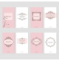 Vintage card templates set vector image