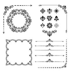 Vintage Set of Elements vector image