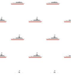warship pattern flat vector image