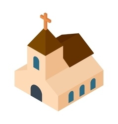 Wedding chapel isometric 3d icon vector