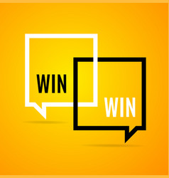 win win concept square banner poster flyer vector image