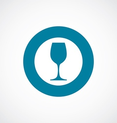 wineglass icon bold blue circle border vector image