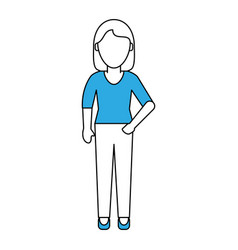 Woman faceless profile vector