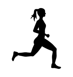 Woman of side running sport concept vector image