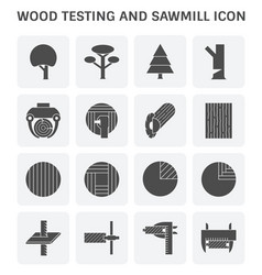 wood sawmill icon vector image