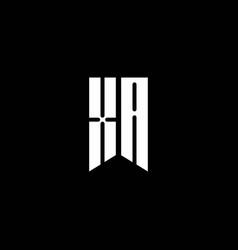 Xa logo monogram with emblem style isolated on vector