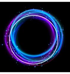 Glowing circle light effect nightclub lights halo vector