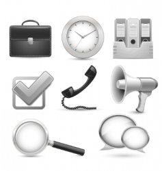 icons for business web site vector image vector image