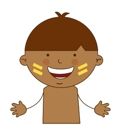 indian boy character icon vector image
