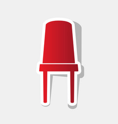 office chair sign new year reddish icon vector image vector image