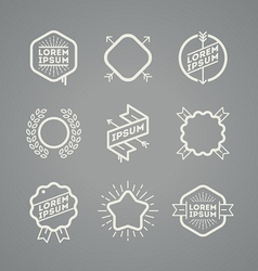 Set with simple hipster emblems vector image vector image