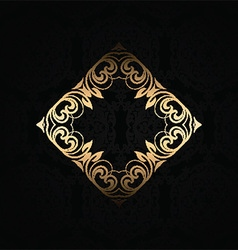stylish background with gold frame 2701 vector image vector image