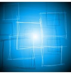 Vibrant blue square design vector image vector image