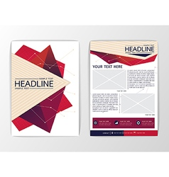 Abstract modern Triangle Brochure Flyer design vector image vector image