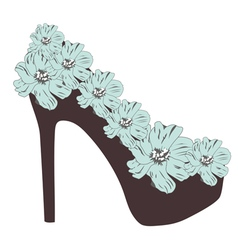 high heel rose vector image vector image